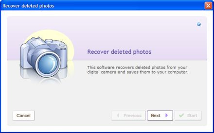 The wizard helps get details of the photos you wish to recover