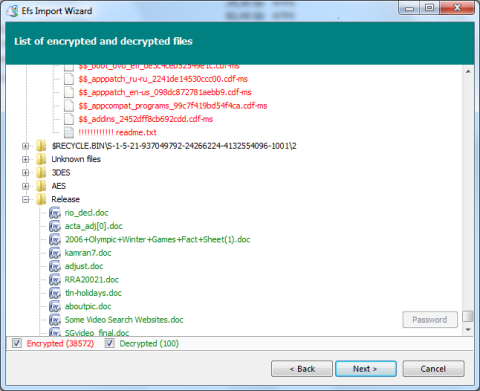 Encrypted File System Recovery