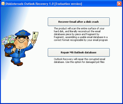 Outlook Recovery wizard makes PST recovery a breeze